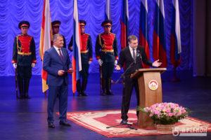 Южная Осетия отмечает 10-летие признания независимости (торжественное собрание и вручение госнаград)