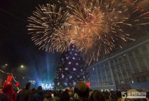 Во Владикавказе состоялось открытие главной ёлки республики