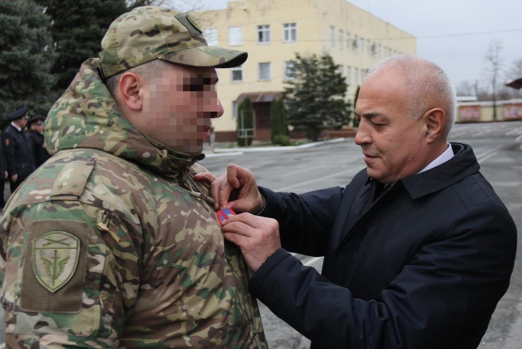 В Северной Осетии офицер ОМОН удостоен государственной награды
