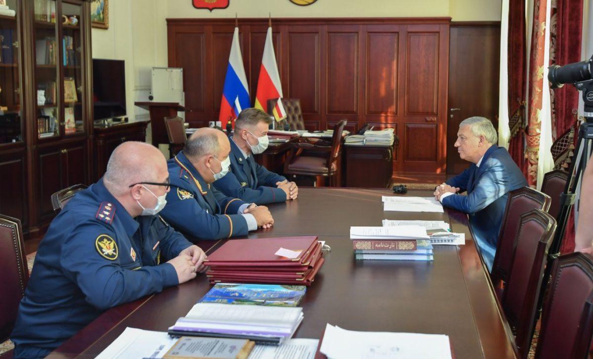 Вячеславу Битарову представили нового руководителя управления ФСИН по Северной Осетии