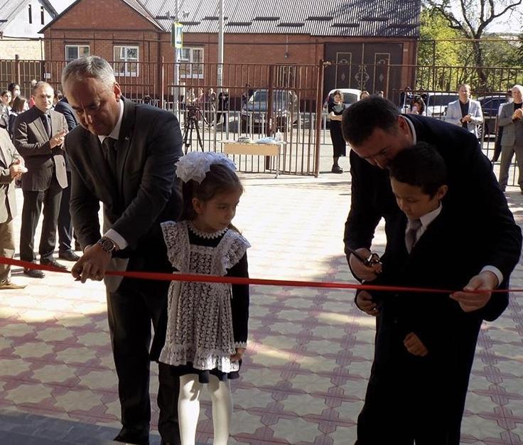 В Чиколе после капитального ремонта торжественно открыли школу №2