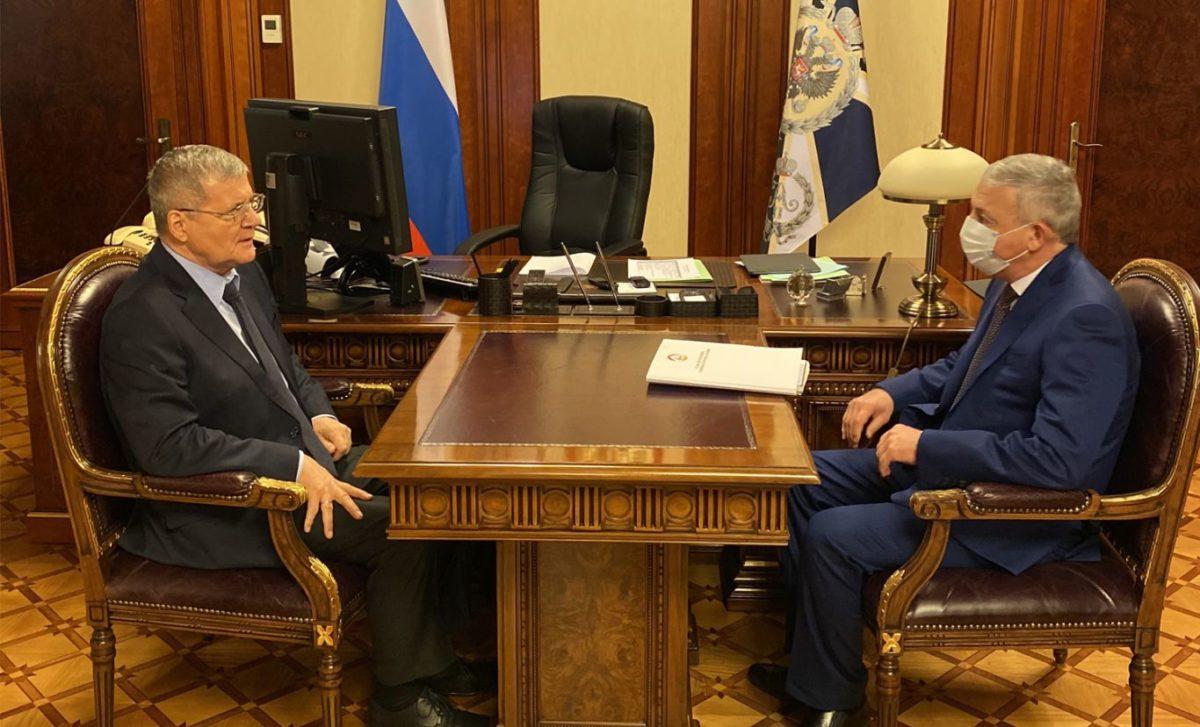 Юрий Чайка и Вячеслав Битаров обсудили вопросы развития Северной Осетии
