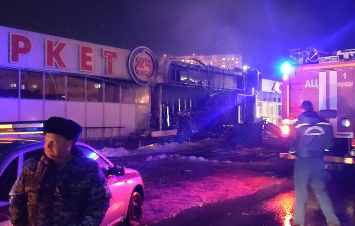 На цветочном рынке в Краснодаре произошел взрыв газа