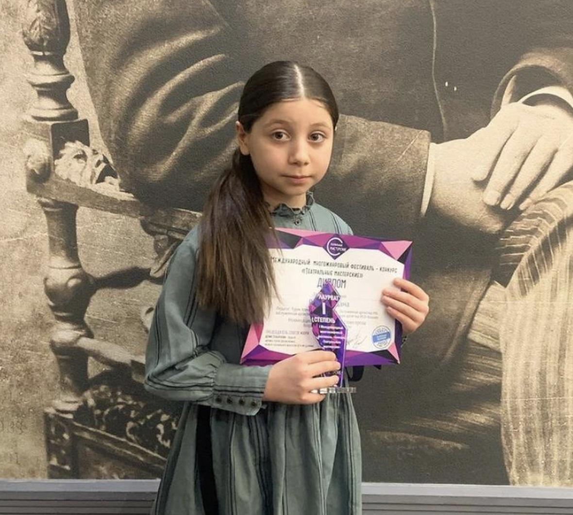 Дана Ревазова победила на международном фестивале «Театральные мастерские»