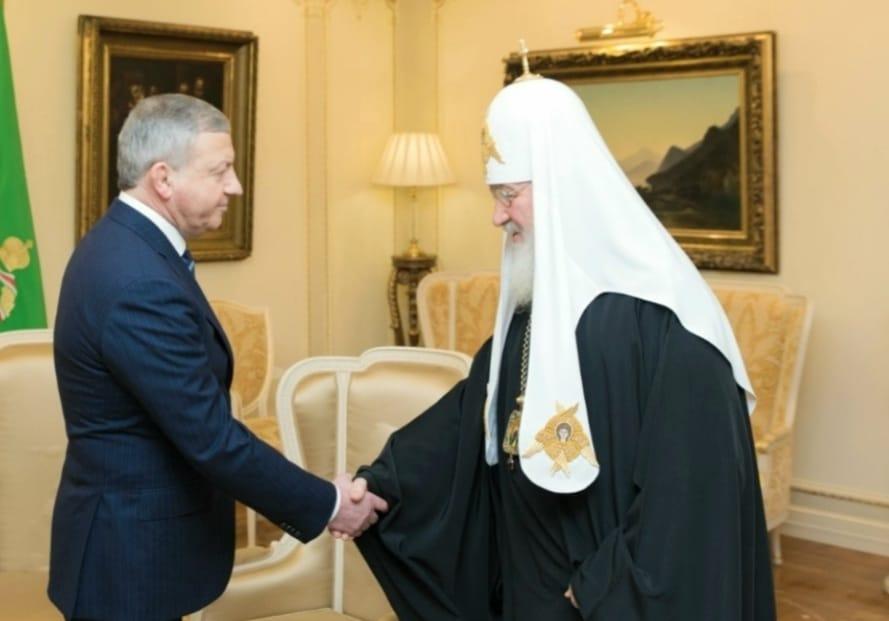 Патриарх Кирилл поздравил Вячеслава Битарова с 60-летием