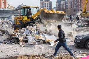 Последствия взрыва в торговом центре Владикавказа