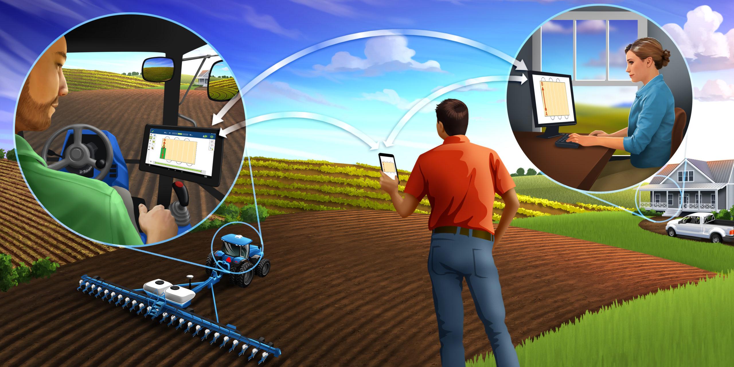 Закладка нового садового питомника с помощью оборудования точного земледелия Trimble