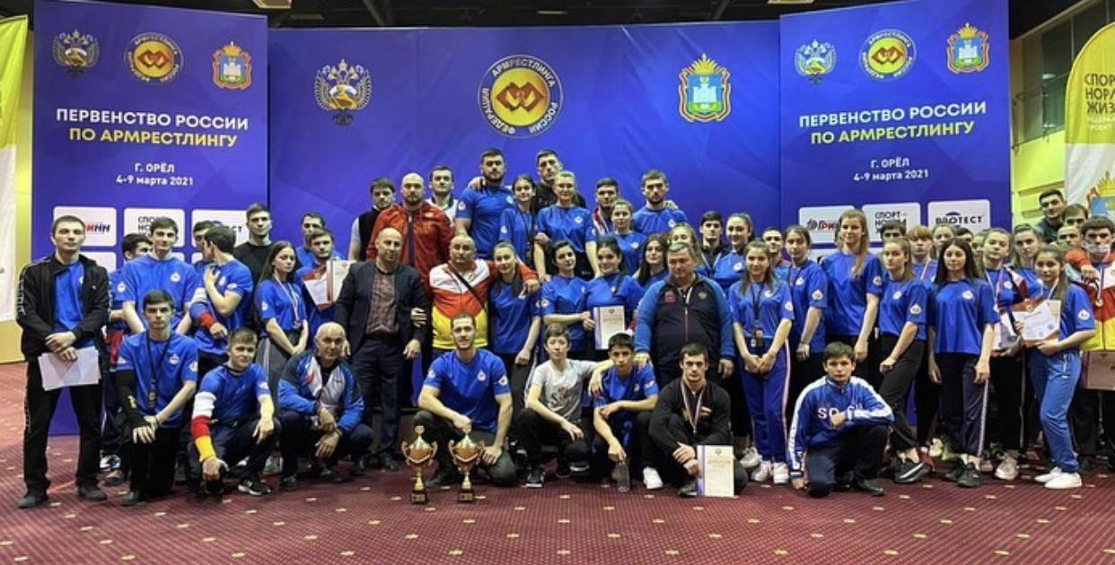 Сборная Северной Осетии по армрестлингу завоевала 30 золотых медалей на первенстве России