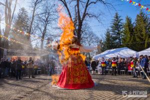 Празднование Широкой Масленицы во Владикавказе