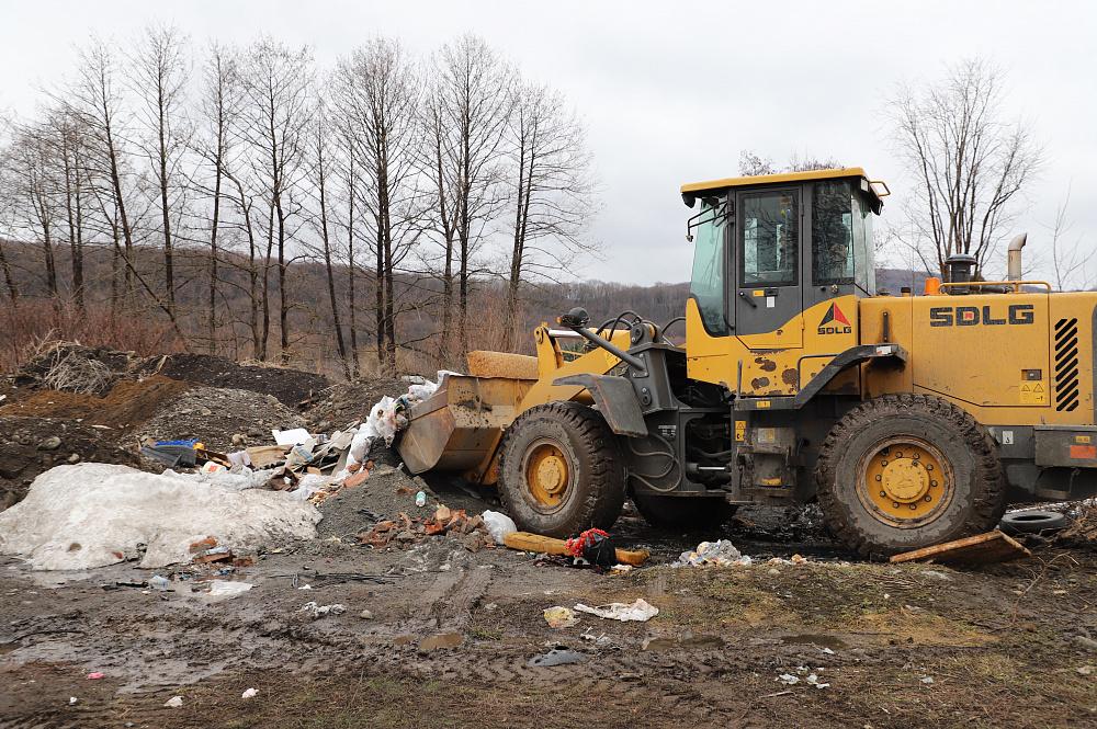 Во Владикавказе ликвидировали стихийную свалку в Затеречном районе
