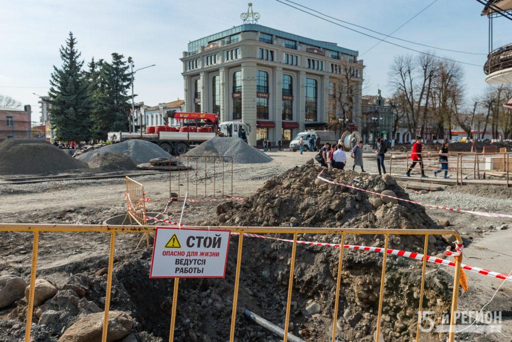 На Проспекте Мира продолжаются ремонтные работы