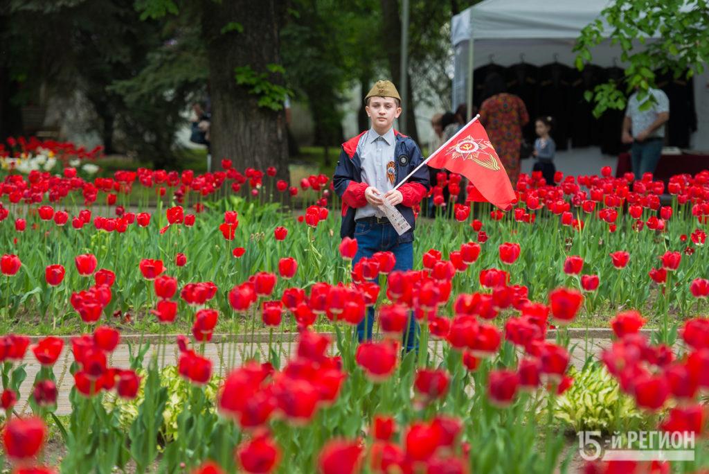 Во Владикавказе прошли праздничные гулянья в честь Дня Победы