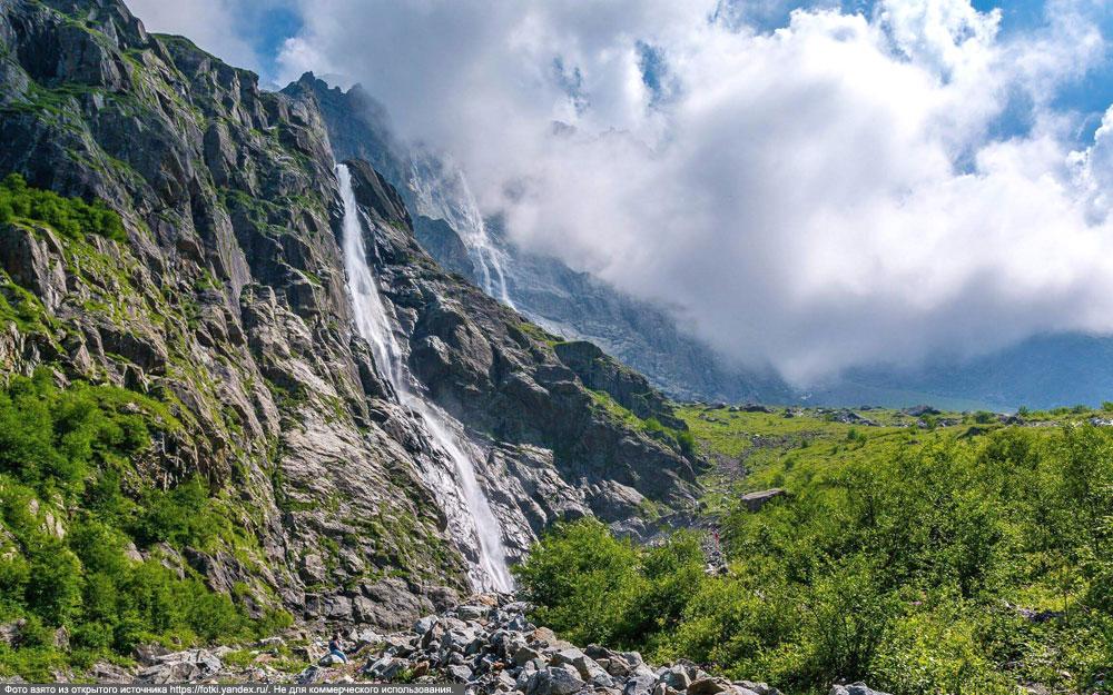 Проезд к Мидаграбинским водопадам временно запрещен